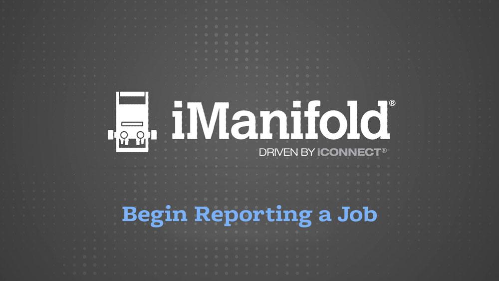 Begin Reporting a Job